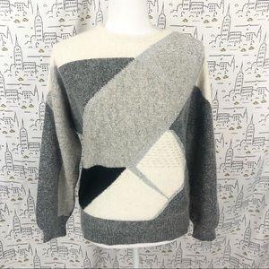 VINTAGE 80s Silk and Angora Sweater Small